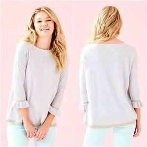 Lilly Pulitzer M Heathered Grey Charla Sweater NWT